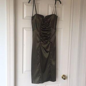 Cute green spaghetti strap mermaid dress P320